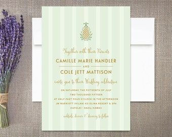 Wedding Invitations Pineapple Plantation