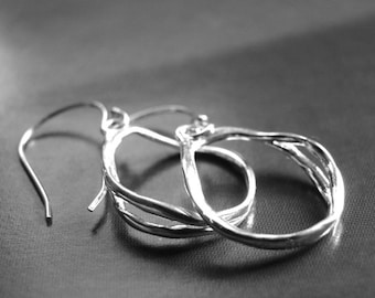 Solid Sterling Silver Earrings, Mother's Day Jewelry,Accessories, Gift for Her, Boho Chic Earrings, Holiday Gift Sterling Silver, Gift Box
