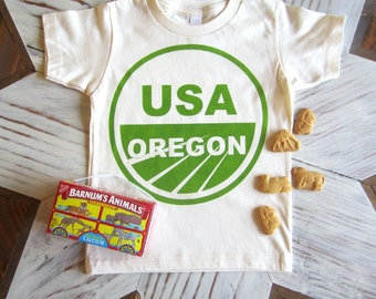 Kids Tshirt - Organic Cotton Toddler Shirt - American Apparel Kids Shirt - Screenprint Tshirt - Portland Oregon - Toddler Tee - Kids Clothes