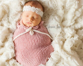 Pink Swaddle Sack Newborn Baby Photography Prop