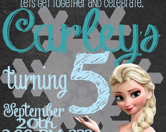 ICE Queen Birthday Invitation