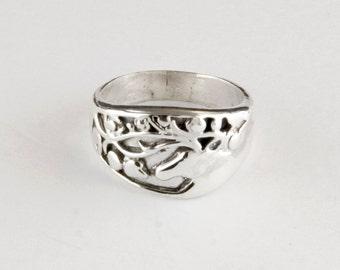Scythian Stag Sterling Silver Ring