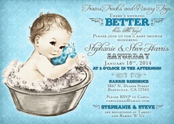 Coed baby shower invitation for boy vintage baby shower invitation il570xn filmwisefo