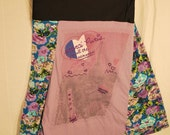 Recycled tee shirt skirt  medium with spandex waistband  M0019