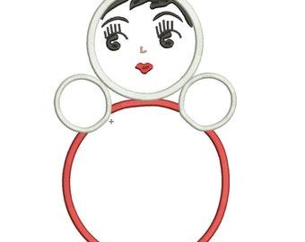 Anoushka Babushka Doll Machine Embroidery Designs Applique Pattern in 2 sizes
