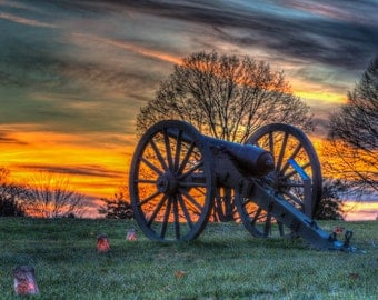 Maryland Art, Cannon At Sunset, Fine Art Photography, Maryland Photography, Civil War