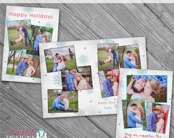Holly Jolly Christmas Card No. 3 - 5x7 Folded Custom Christmas Photo Card Templates for photographers on WHCC specs