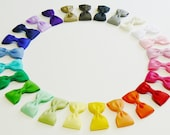Girls Hair Bow Set  Rainbow Colors Childrens Kids Boutique Hair Accessories Hair Clip Hairbows (Set of 25) Choose your Colors