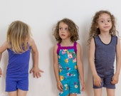 Summer Romper Knit Pajama Pattern size 3-8.