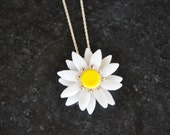 Daisy Necklace with Swarovski Crystals by Kim Lugar