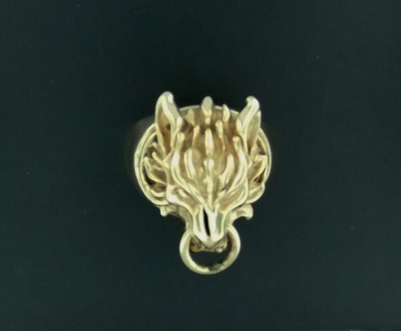 Cloud Strife Wolf Ring in Antique Bronze