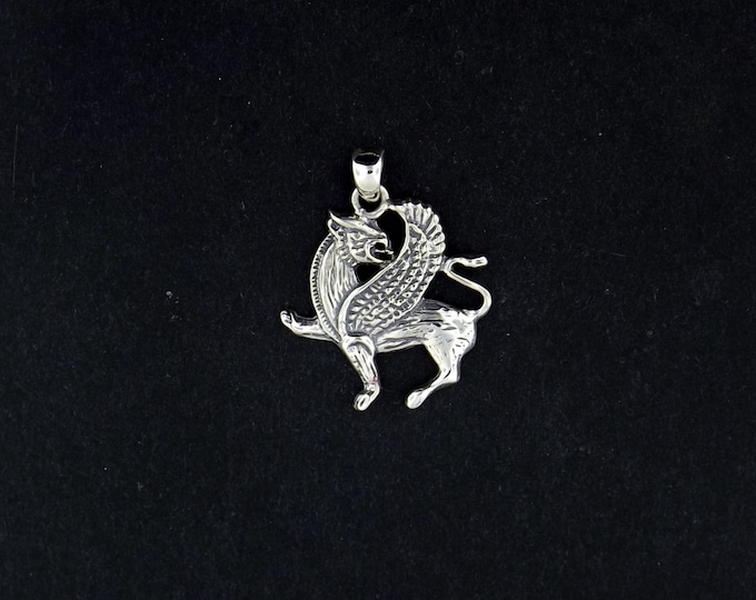 Griffin Pendant in Sterling Silver