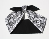 SALE!!! Vintage Inspired Head Scarf, Converse, Adult and Kids sizes