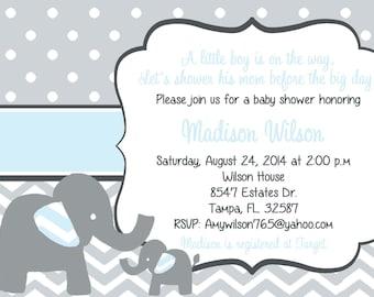 elephant baby shower invitation  etsy, Baby shower