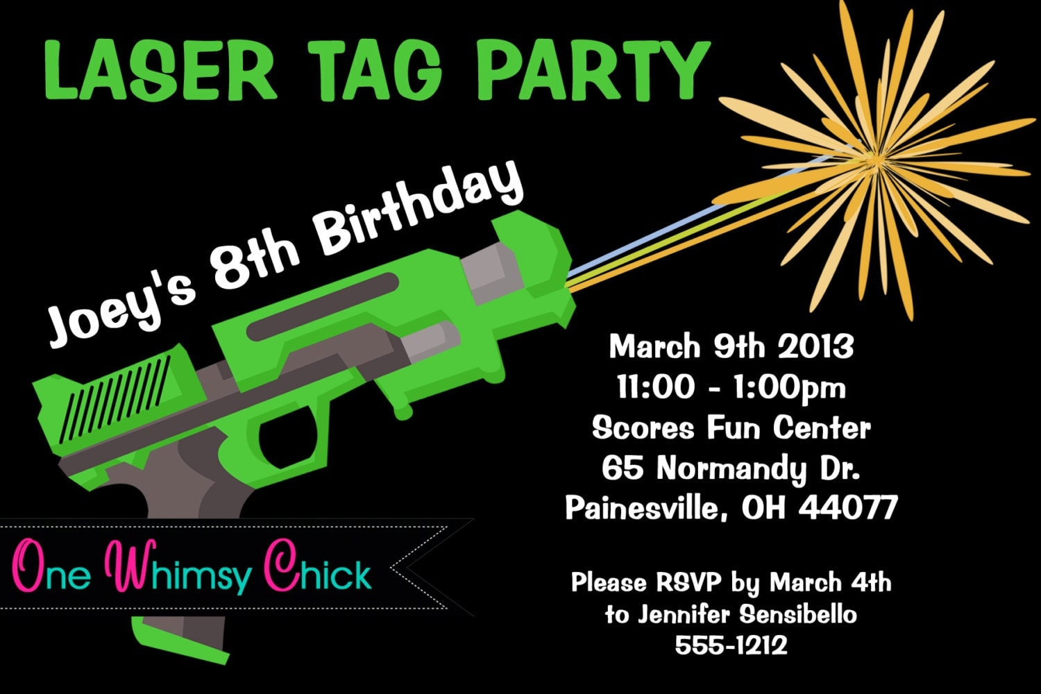 Sweet image regarding laser tag birthday invitations free printable