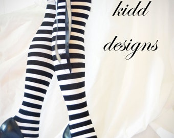 CKD exclusive Alice in Wonderland inspired Halloween over the knee socks, stockings, thigh highs