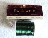Green Jewelry Wire, Jewelry Wire, Green Wire, Green, Destash Supplies, Supplies, Beading Supplies, Jewelry Supplies - 20 Gauge - 10 yds