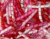 100 Korker Pieces - VALENTINE - Precut, Ends Heat Sealed, Ready to Use - 3/8 Grosgrain Ribbons