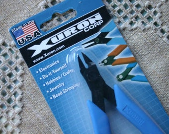 Pliers Xuron Flush Cutter Eurotool Steel Rubber 5in 9.75mm Shear Length