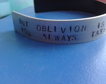 But Oblivion is calling out your name you always take it further than I ever can - Bastille - Dan Smith - Oblivion -  Bad Blood - Bracelet