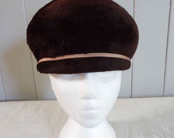 SALE Vintage 40s Brown Womens hat Cap by Mr Henri