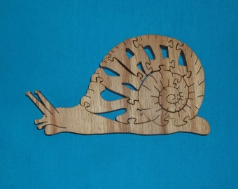 Snail Wooden Scroll Saw Puzzle