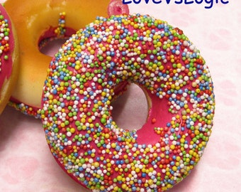 1 XHuge Chunky Donut Soft Plastic Pendant. 18