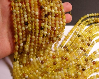 Yellow Opal  6 mm round - A quality - 70  beads per strand -  1 full strand