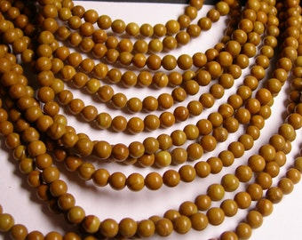 Wood Jasper - 4 mm round beads -1 full strand - 94 beads - RFG480