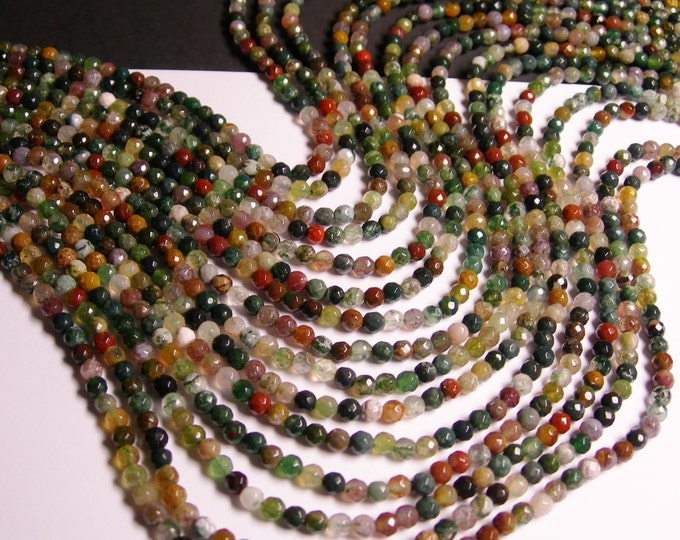Indian Agate - 4mm faceted beads - full strand - 94 beads - RFG593
