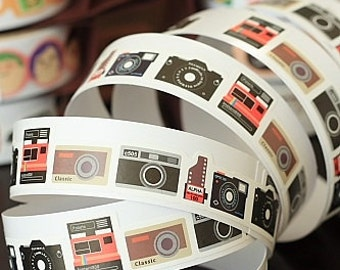 Tape-Camera Sticker Tape-Vintage Camera Tape-Embellishment-Sticker Tape