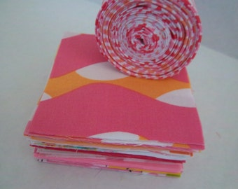 Retro Bright Patchwork  Baby Girl Quilt Kit by Dreamy Vintage Sheets on ETSY