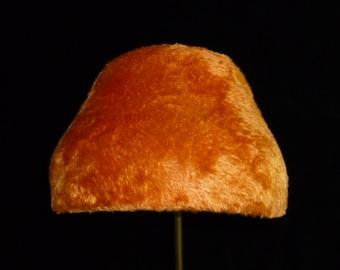 70's style orange felt hat, bright orange melusine felt hat  ' Pumpkin'