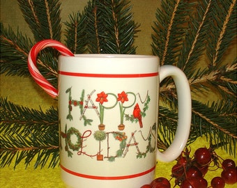Christmas Holidays Ceramic Mug Cardinal Holiday Decor Coffee Made in USA