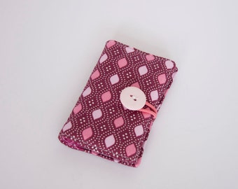 Business Card Holder - ID Holder - Credit Card Holder - Gift Card Holder - Plum Purple, Raspberry, and Pink Domestic Bliss