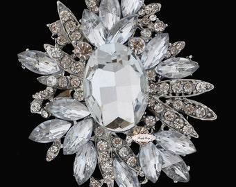 Rhinestone Brooch Pin - Flatback Embellishment - Rhinestone Broach Embellishment - Brooch Bouquet - Jewelry Supply Rhinestone Broach  RD187
