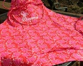 PIERCED HEART Monogrammed Apron Quilted Bib Style Handmade Personalized
