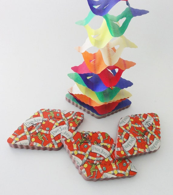 Vintage Honeycomb Paper Chain Christmas Garlands