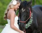 Bridal Hair Piece Ivory Pearls Swarvoski Crystal Beads Peony Flower Hair Clip Wedding Hair flower
