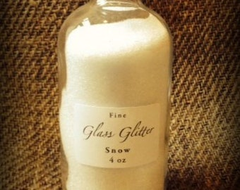 4 oz Bottle of SNOW Glass Glitter From Germany by cheswickcompany