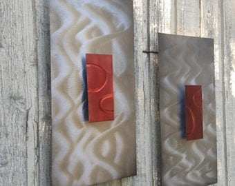 Abstract Metal Wall Art Sculpture by Artist Holly Lentz