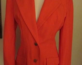 70's Coral Linen Blazer by Randazzo