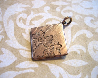 Antique Art Nouveau Edwardian Gold Filled Locket Fob