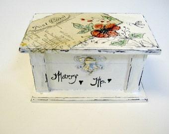Wedding Ring Pillow Box - Engagement Ring Box - Ring Bearer Box