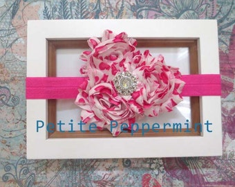 Hot Pink Baby Headband, infant headband, toddler headband - Hot Pink Baby Bow Headband