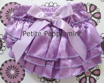 Baby Bloomer,Baby Girl Bloomer,Baby Diaper Cover,Baby Bloomer Girl,Lavender Baby Bloomer,Baby Girl Diaper Cover,Baby Ruffle Bloomer
