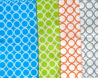 Super SALE : Metro Living circles 4 FQ set Robert Kaufman fabrics