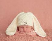 Newborn Bunny Hat, Photo prop size newborn