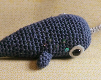 Norbert the narwhal amigurumi pattern crochet pdf