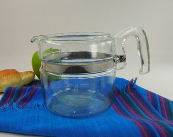 Pyrex Flameware Glass Coffee Pot Percolator 4 Cup Replacement - Base Pot wt Handle